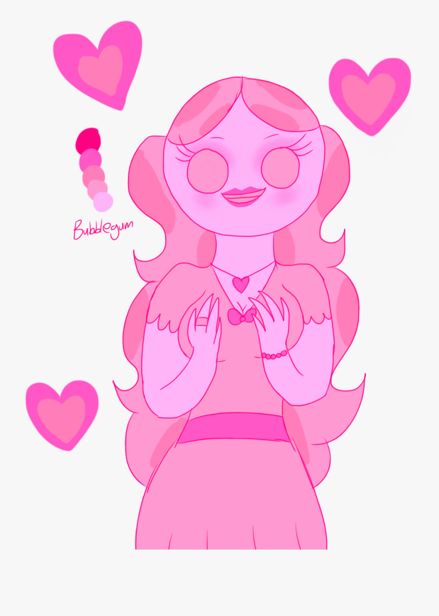 Oc Gulaabee In The Bubblegum Color Palette - Heart, Transparent Clipart
