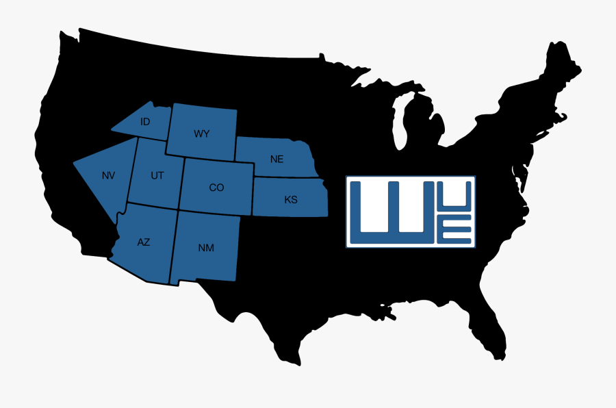 Western United Electric Supply Corporation Is A Member - Us Senate Map, Transparent Clipart