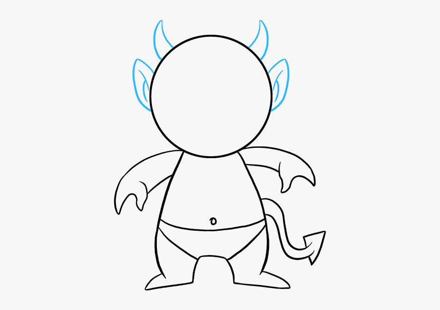 How To Draw Devil Emoji, Step By Step, Characters, - Half Devil Half Angel Drawing Easy, Transparent Clipart