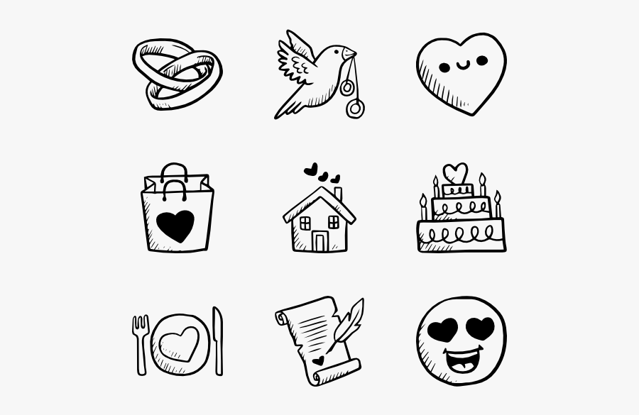 Clip Art Carton Drawing For - Hand Drawn Icon Png, Transparent Clipart