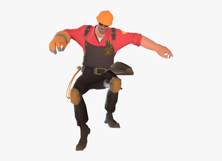 Tf2 Transparent Square Dance - Engineer Square Dance Gif, Transparent Clipart