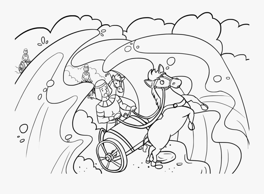 Art,monochrome,line Art - Desenhos Do Exército Do Farao, Transparent Clipart