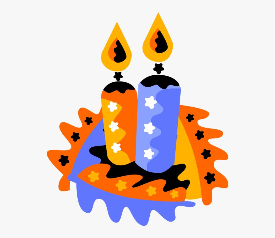 Transparent Melting Candle Clipart, Transparent Clipart