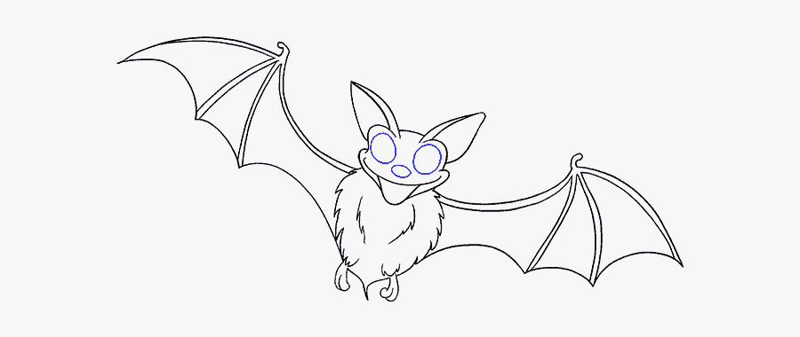 How To Draw A - Draw Bat Wings Easy, Transparent Clipart