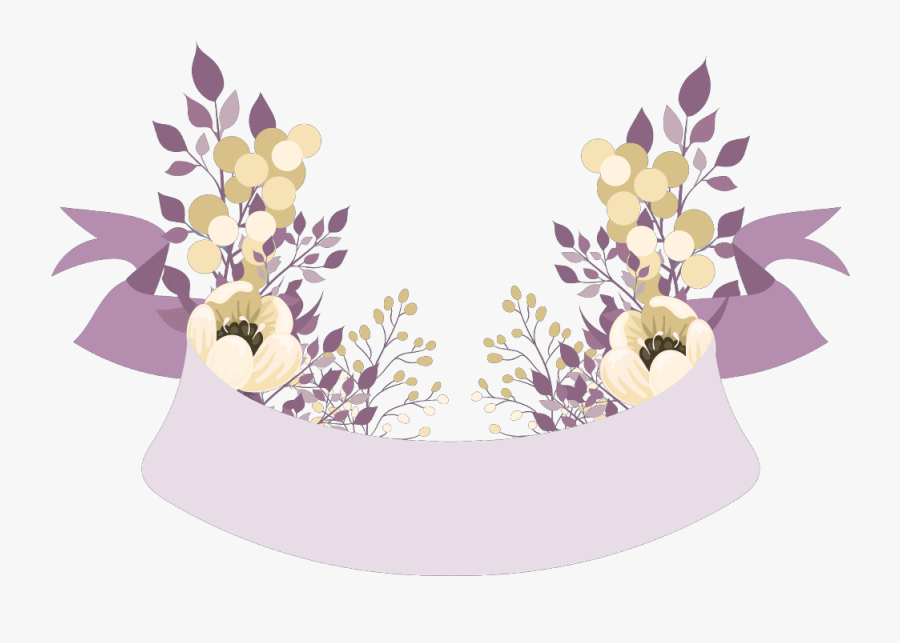#banner #banners #floral #flower #flowers #sign #ftestickers - Banner Floral Png, Transparent Clipart