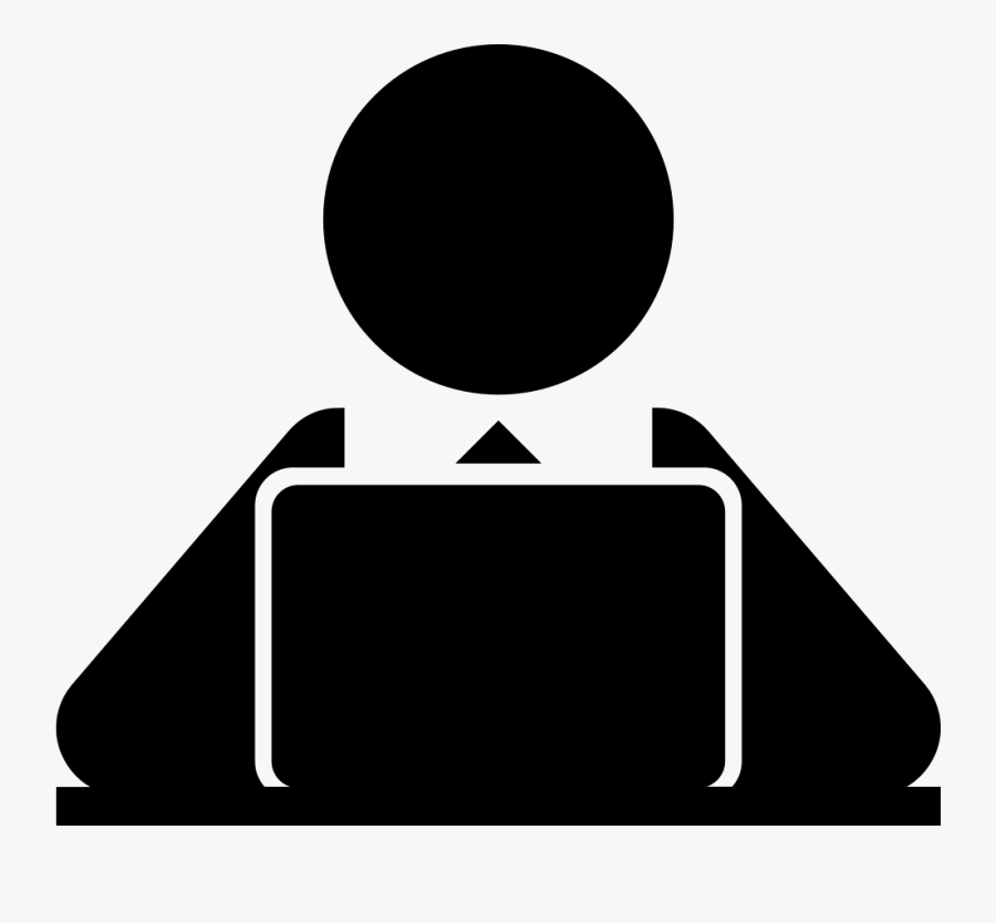 Png File Svg - Person At Computer Icon Png, Transparent Clipart