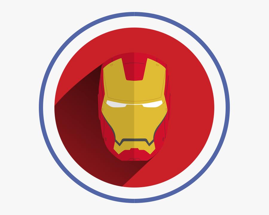 Iron Man Face Vector - Logo Iron Man Png, Transparent Clipart