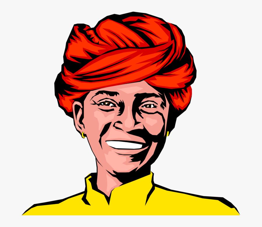 Transparent Man Face Png - Indian Man Face Clipart, Transparent Clipart