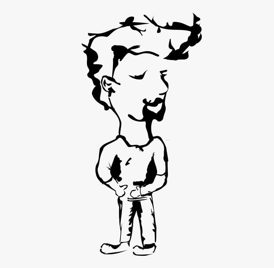 Anak Punk Kartun Hitam Putih Free Transparent Clipart