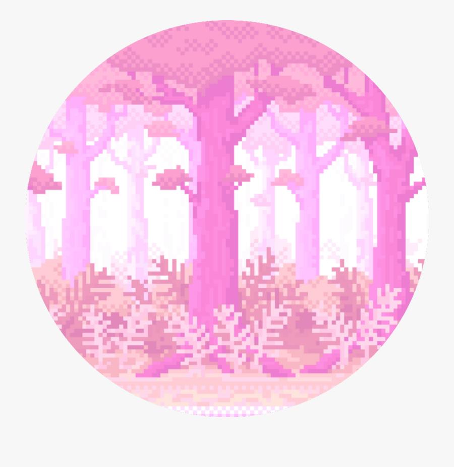 #pixel #aesthetic #vaporwave #tumblr #pink #cute #background - Aesthetic Pixel Background, Transparent Clipart