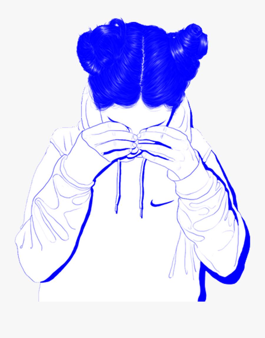 Transparent Blue Tumblr Png - Transparent Aesthetic Girl Png, Transparent Clipart
