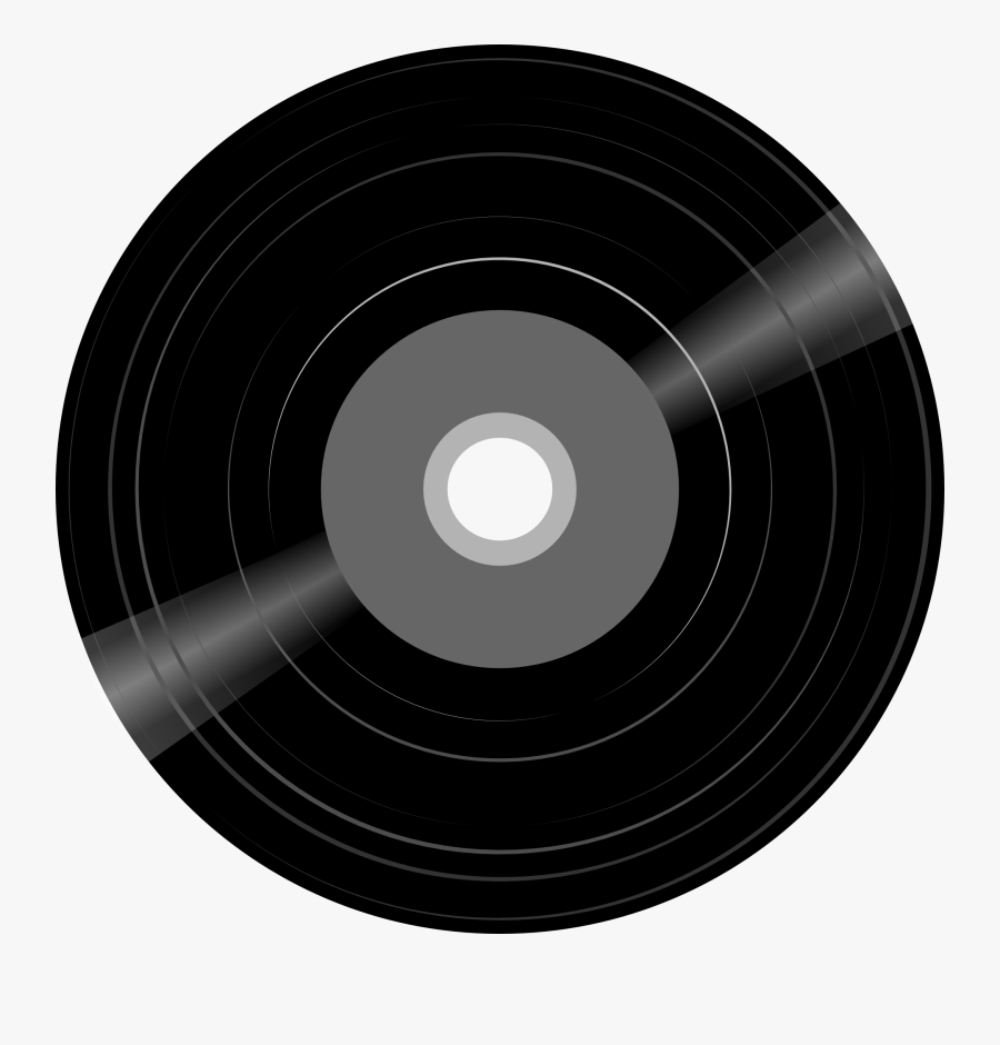 Record, Disk, Music, Record Player, Sound, Old, Vintage - Old Record Player Disc, Transparent Clipart