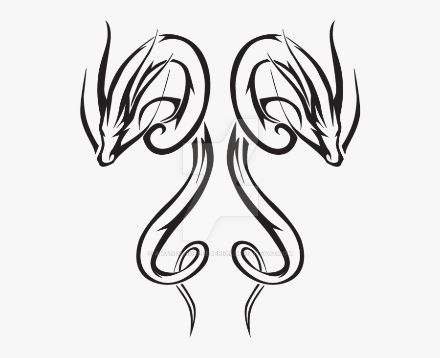 600 X 776 - Drawing Japanese Tattoo Dragons, Transparent Clipart