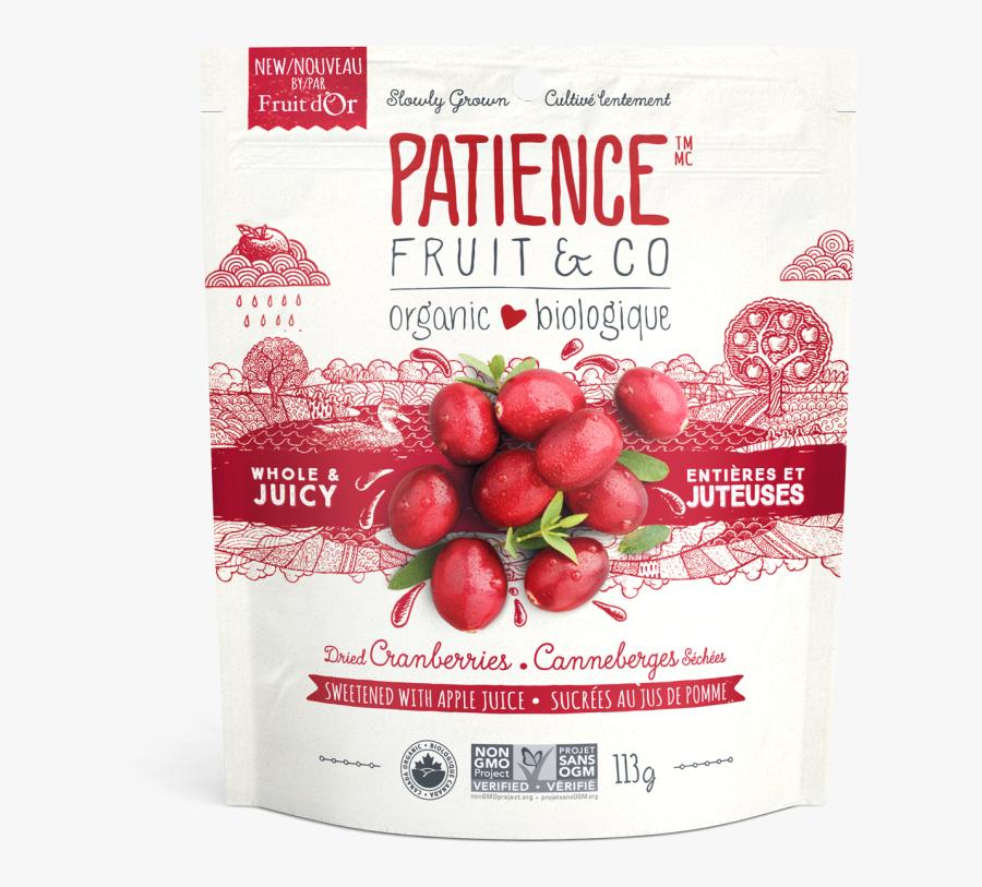 Transparent Cranberries Png - Patience Fruit & Co Dried Cranberries, Transparent Clipart