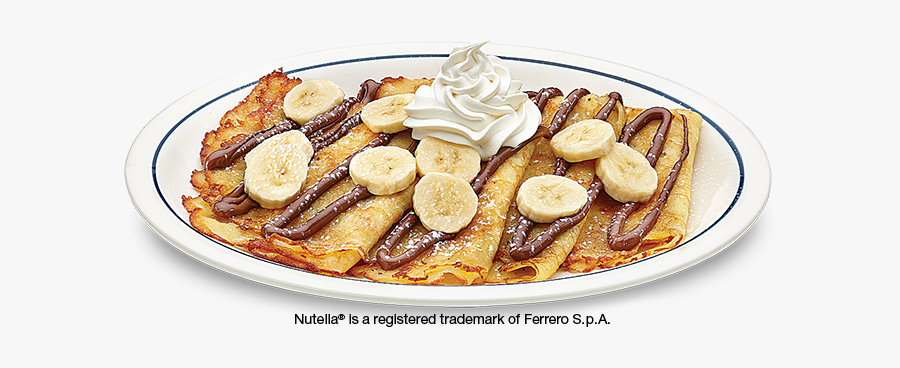 Ihop Elizabeth Nj Crepes - Ihop Nutella Crepes, Transparent Clipart