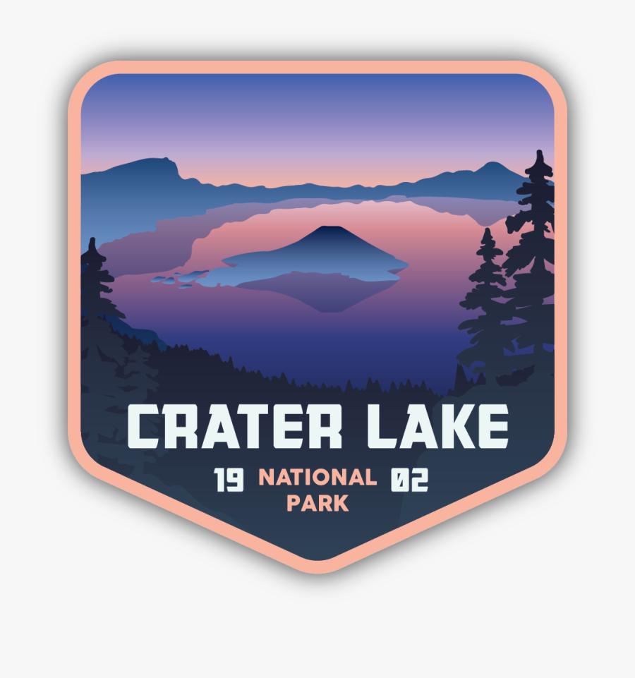 Crater Lake National Park Sticker, Transparent Clipart