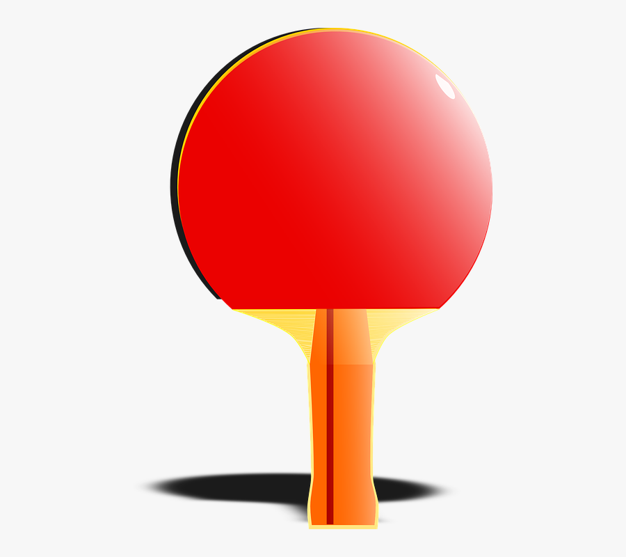 Bat, Sports, Ping-pong, Table Tennis, Playing, Game - Table Tennis Bat Animation, Transparent Clipart