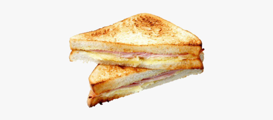 Ham Cheese Toasted Sandwich, Transparent Clipart