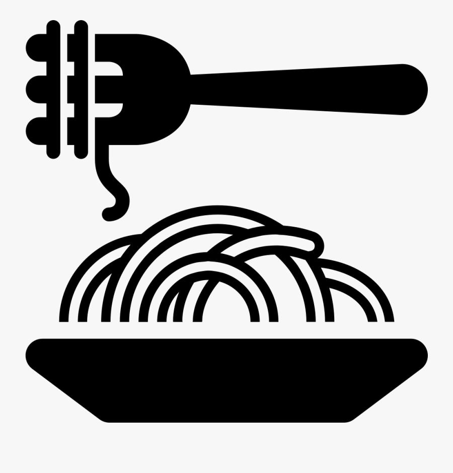 Characteristic Food - Transparent Pasta Silhouette, Transparent Clipart