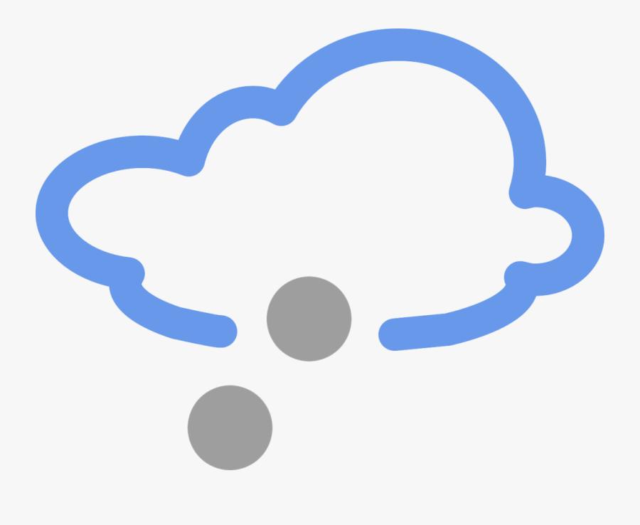 Clipart Winter Storm - Weather Symbols Hail, Transparent Clipart