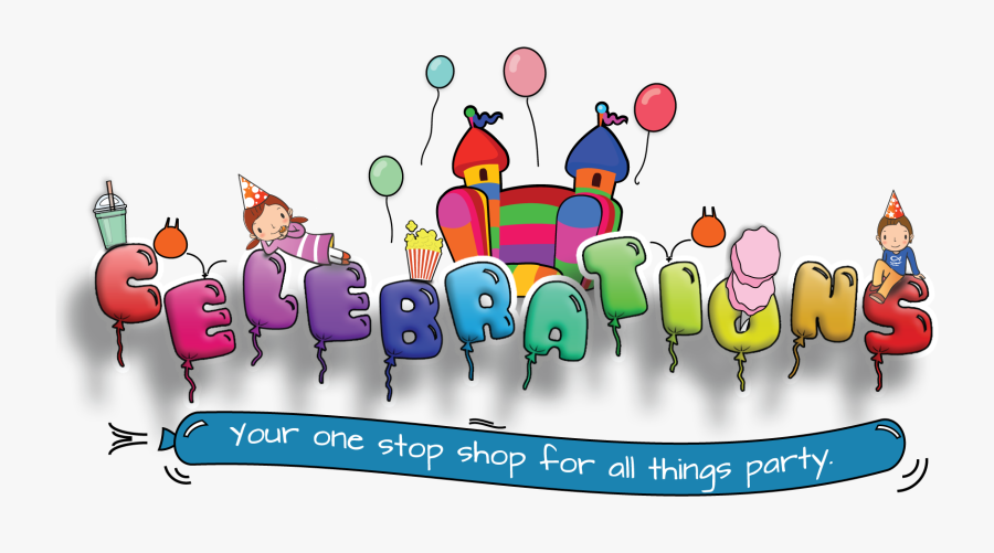 Home Celebrations Party Hire And Bouncy Castles - Party Celebrations, Transparent Clipart