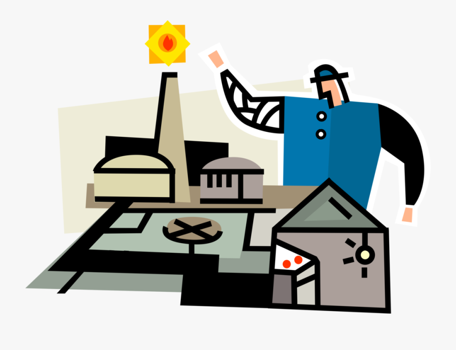 Nuclear Power Technician With Electricity - Nuclear Power, Transparent Clipart