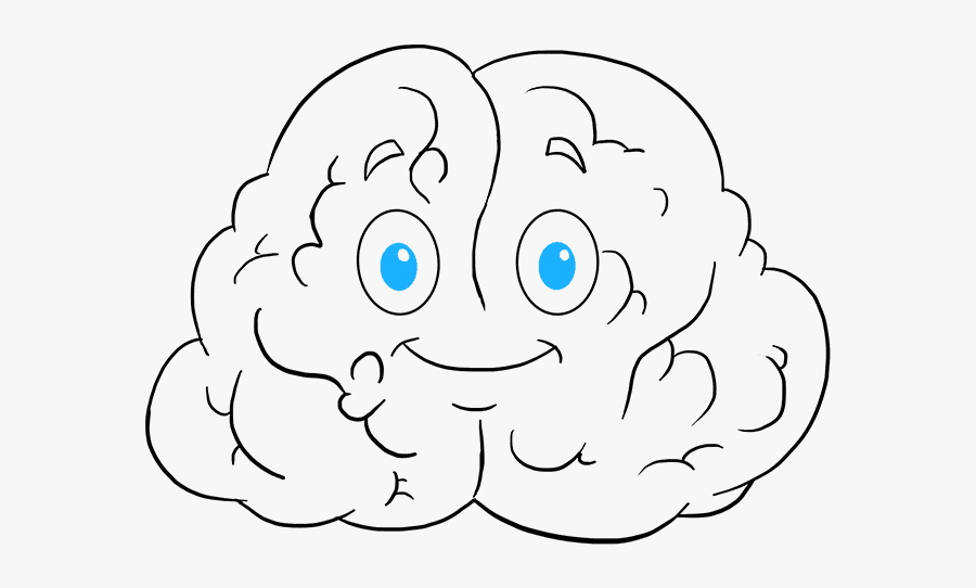 Clip Art Drawings Of Brain - Cartoon How To Draw A Brain, Transparent Clipart