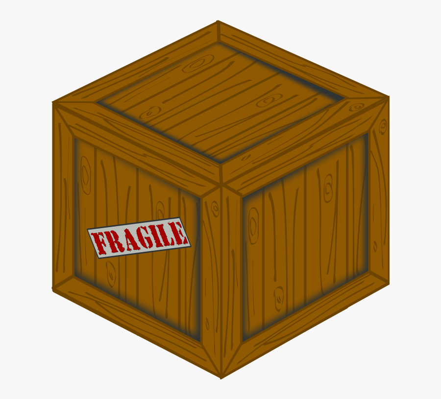 Perspective Wooden Crate - Wooden Crate, Transparent Clipart