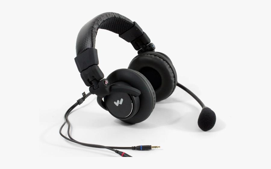Transparent Headphones Music Clipart - Microphones Headset, Transparent Clipart