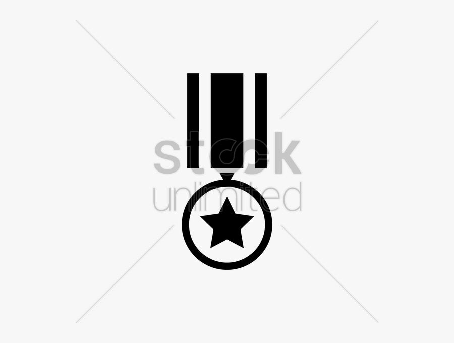 Medal Clipart Military Medal - Army Star Medal Clipart Black And White, Transparent Clipart