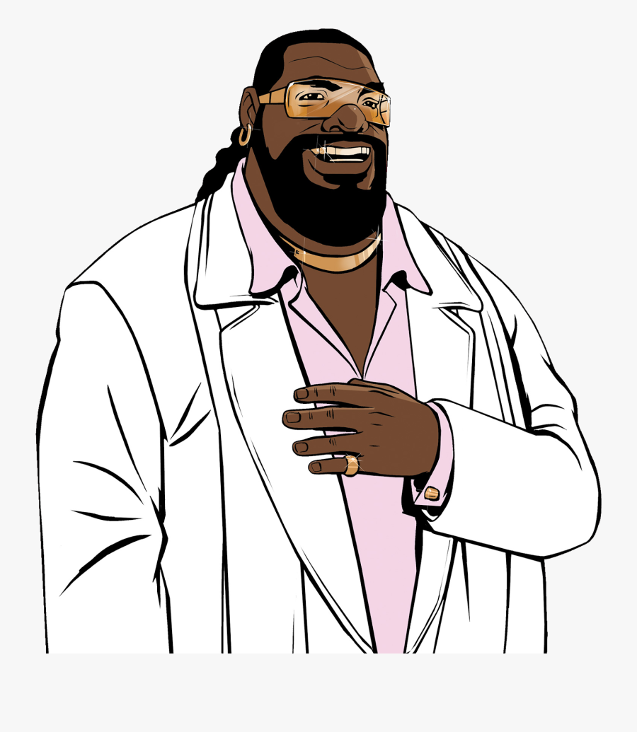 Backside Bearded Man Png - Gta Vice City Fever 105, Transparent Clipart