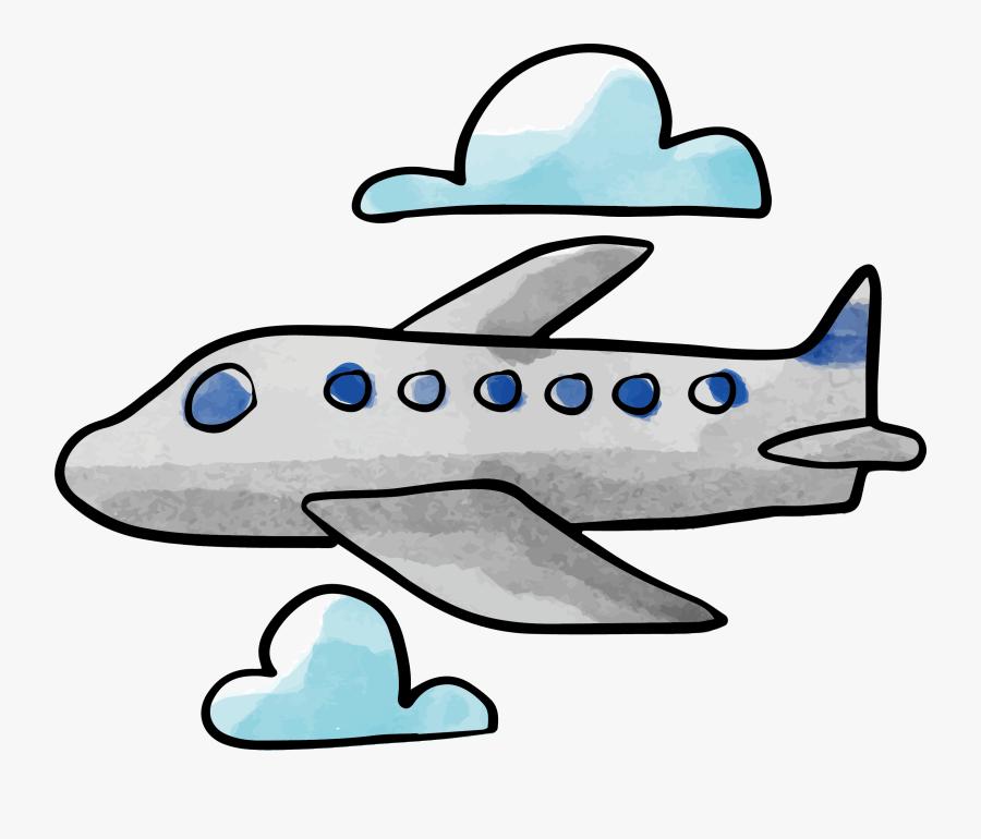 Clip Art Plane Vector Transprent Png - Dibujo De Un Avión, Transparent Clipart