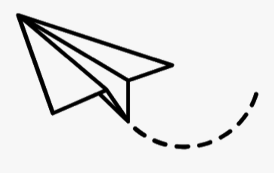 Dibujos Tumblr Png - Avion De Papel Dibujo, Transparent Clipart