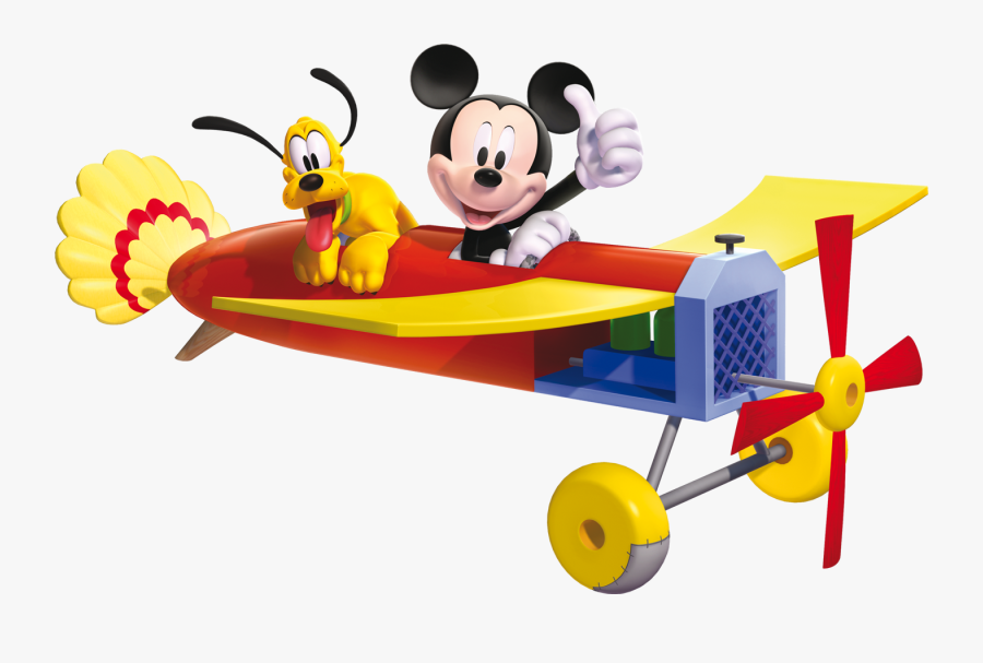 World Of Illusion Starring - Mickey Mouse Clubhouse Toon Plane, Transparent Clipart