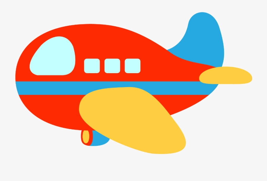 Plane Clipart Red And Blue, Transparent Clipart