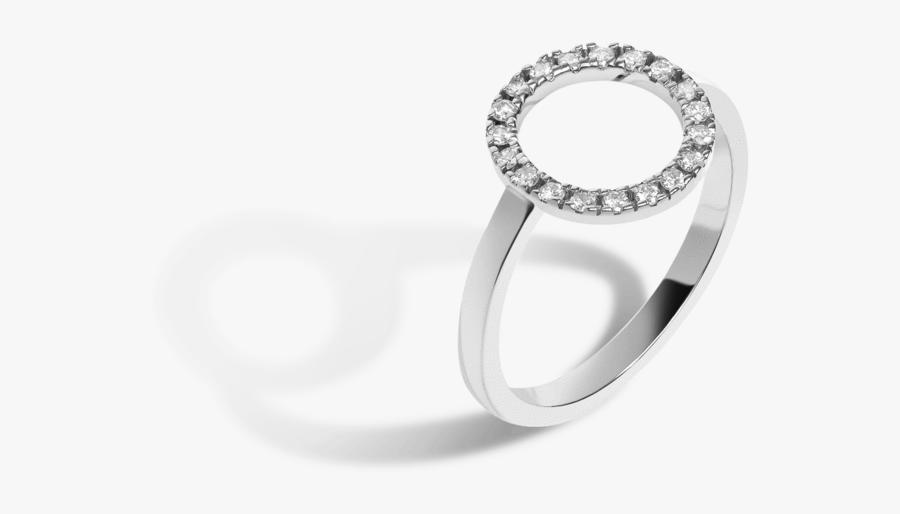 Diamond Circle Ring With White Diamonds - Circle Ring With Diamonds, Transparent Clipart