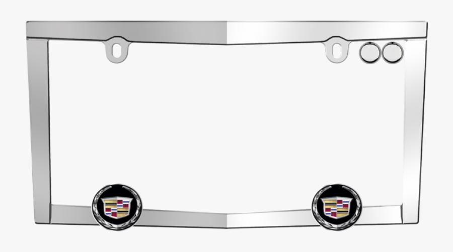 Cadillac License Plate Frame - Cadillac Car Frame Plate, Transparent Clipart