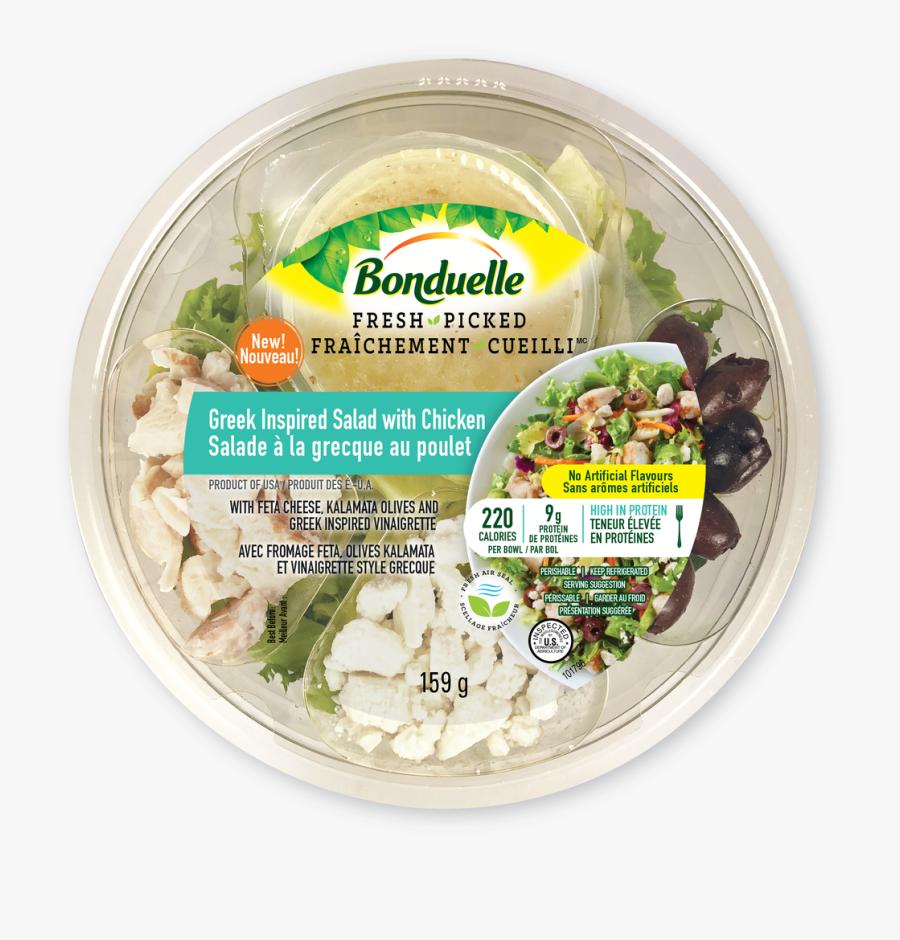 Transparent Salads Clipart - Bonduelle Salad Bowls, Transparent Clipart