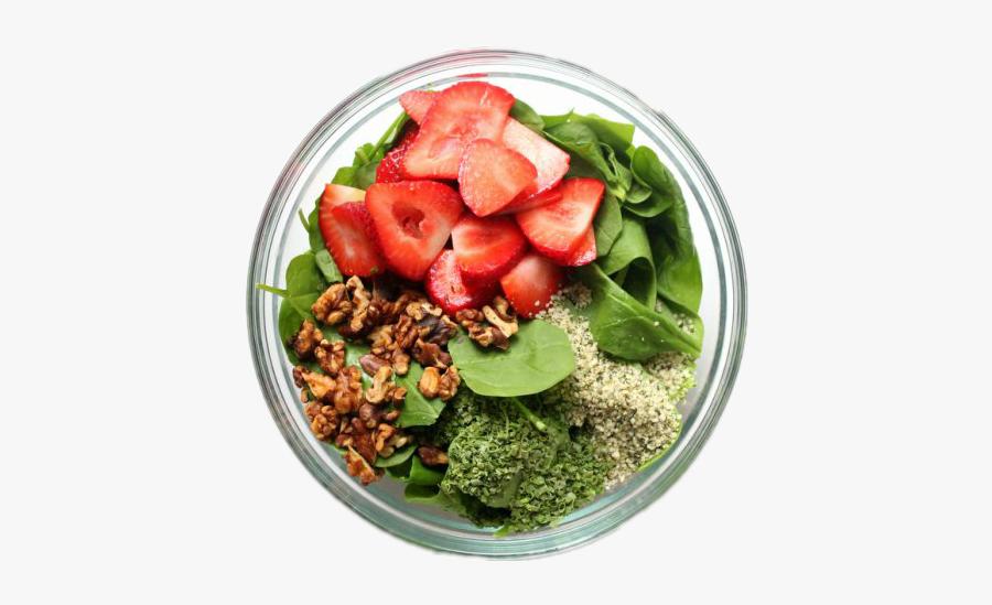 #vegetables #salad #strawberries #bowl #healthy #healthyhabits - Bowl Of Salad Transparent, Transparent Clipart