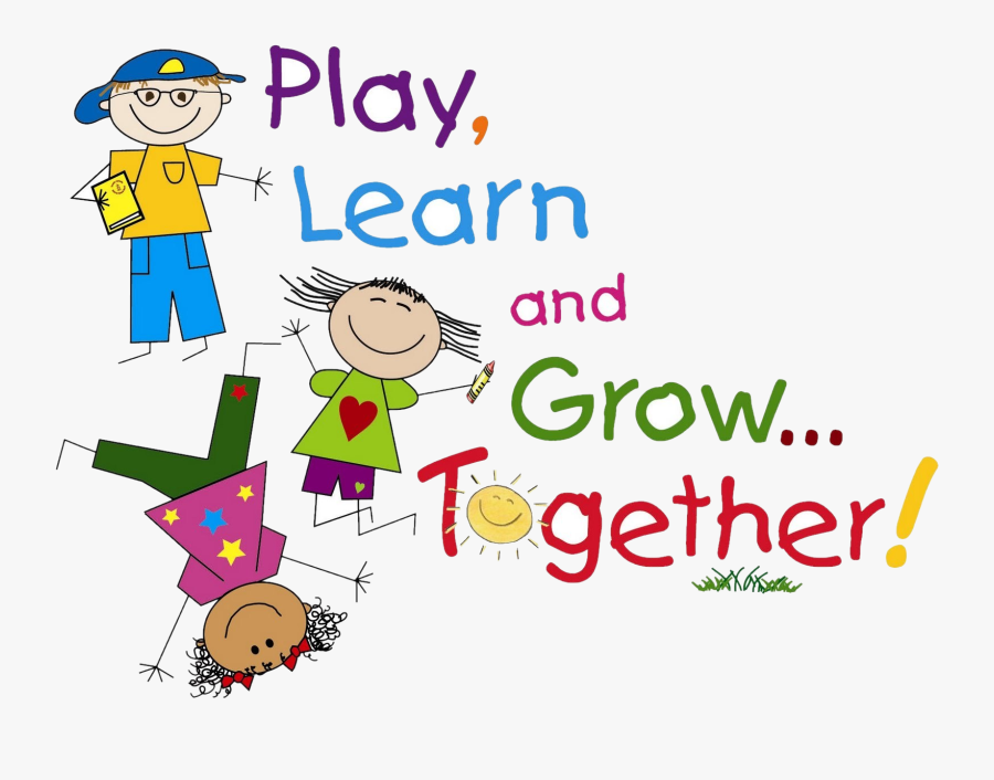 Kids Transparent Preschool - Play Learn And Grow Together, Transparent Clipart