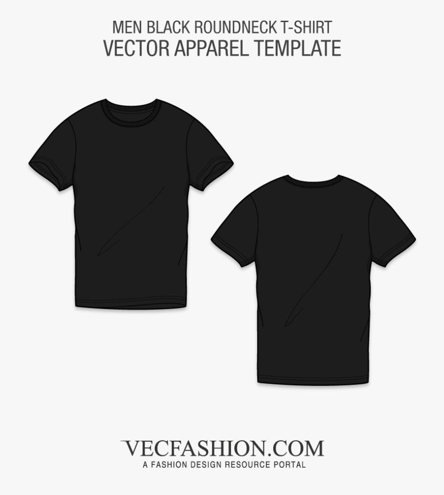 T Shirt Outline Png - Mens Black T Shirt Template, Transparent Clipart
