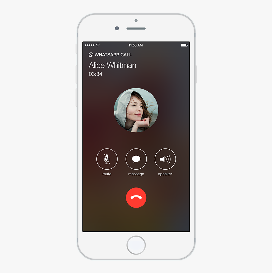 Video Call Snapshot 3 Png - Iphone Whatsapp Call Screen, Transparent Clipart