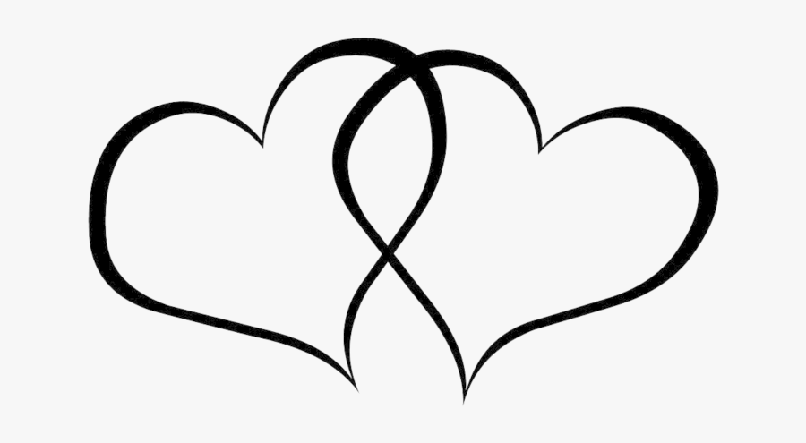 Heart Clipart Black And White, Transparent Clipart