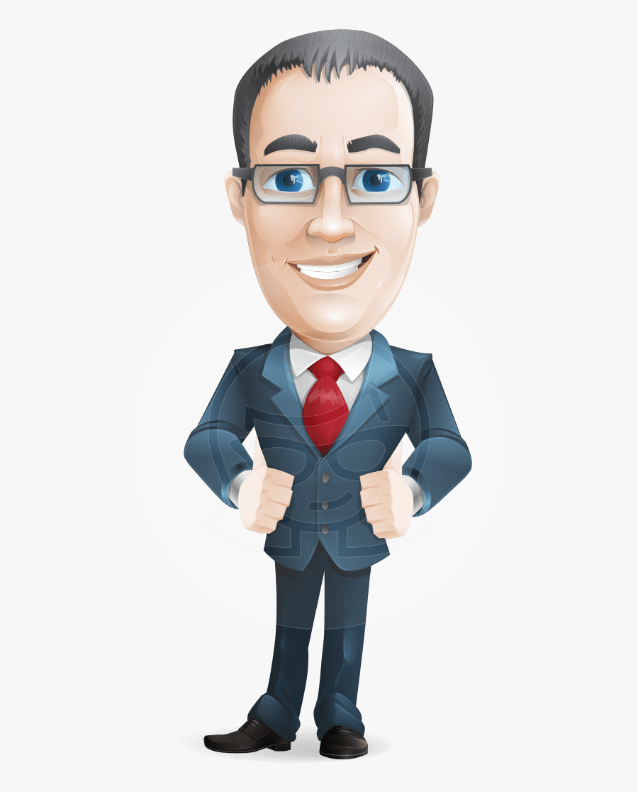 Transparent Cartoon Man Png - Cartoon Business Characters Png, Transparent Clipart