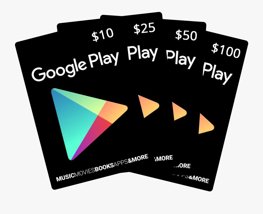 Google Play Gift Card Png - Google Play Gift Card, Transparent Clipart