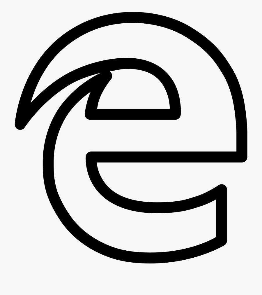 Infinity Logo Vector Icon: Microsoft Edge White Icon , Free