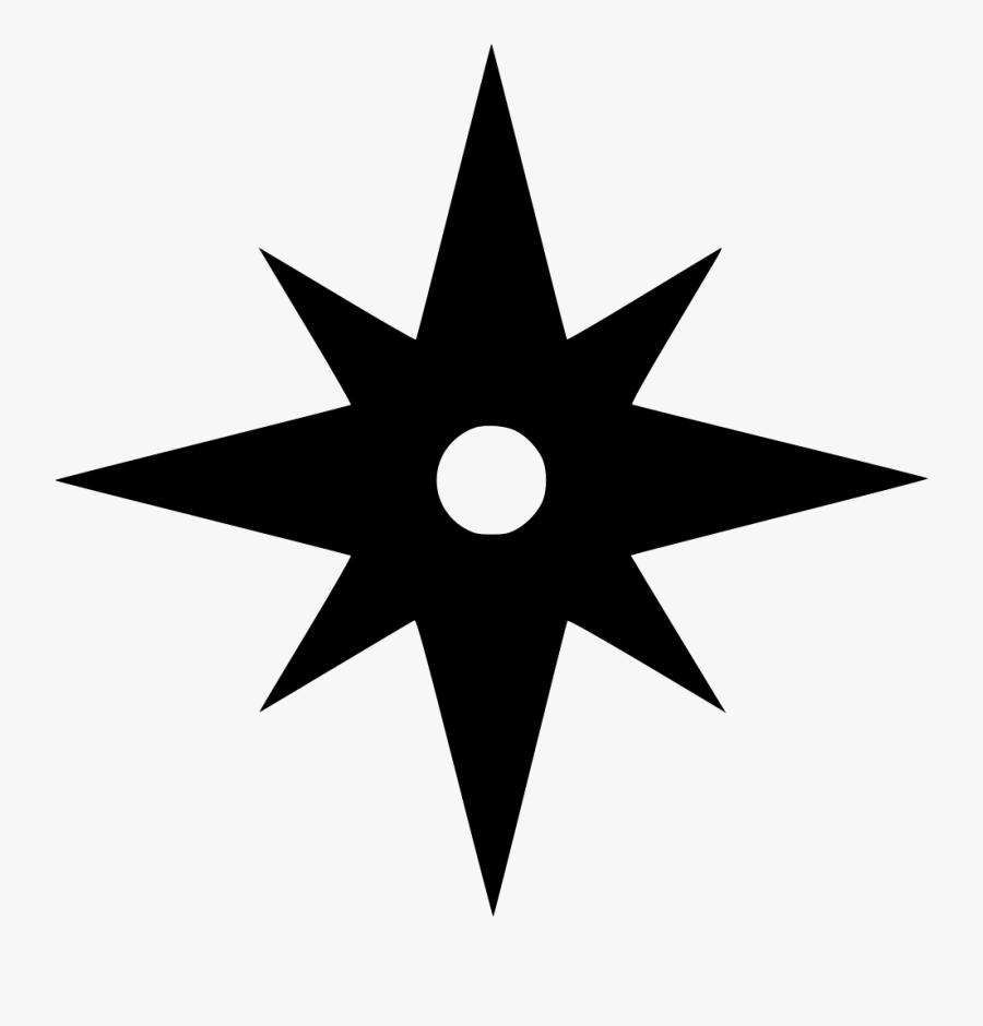 Transparent 8 Pointed Star Png - Compass Tours, Transparent Clipart