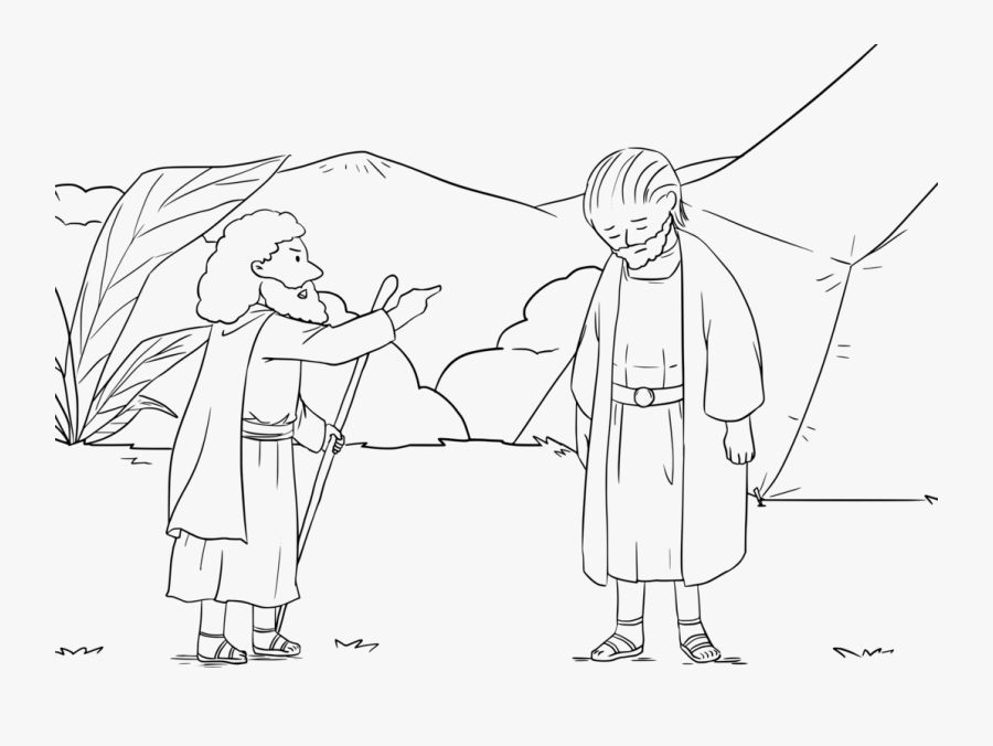 Monochrome - Drawing Samuel From The Bible, Transparent Clipart