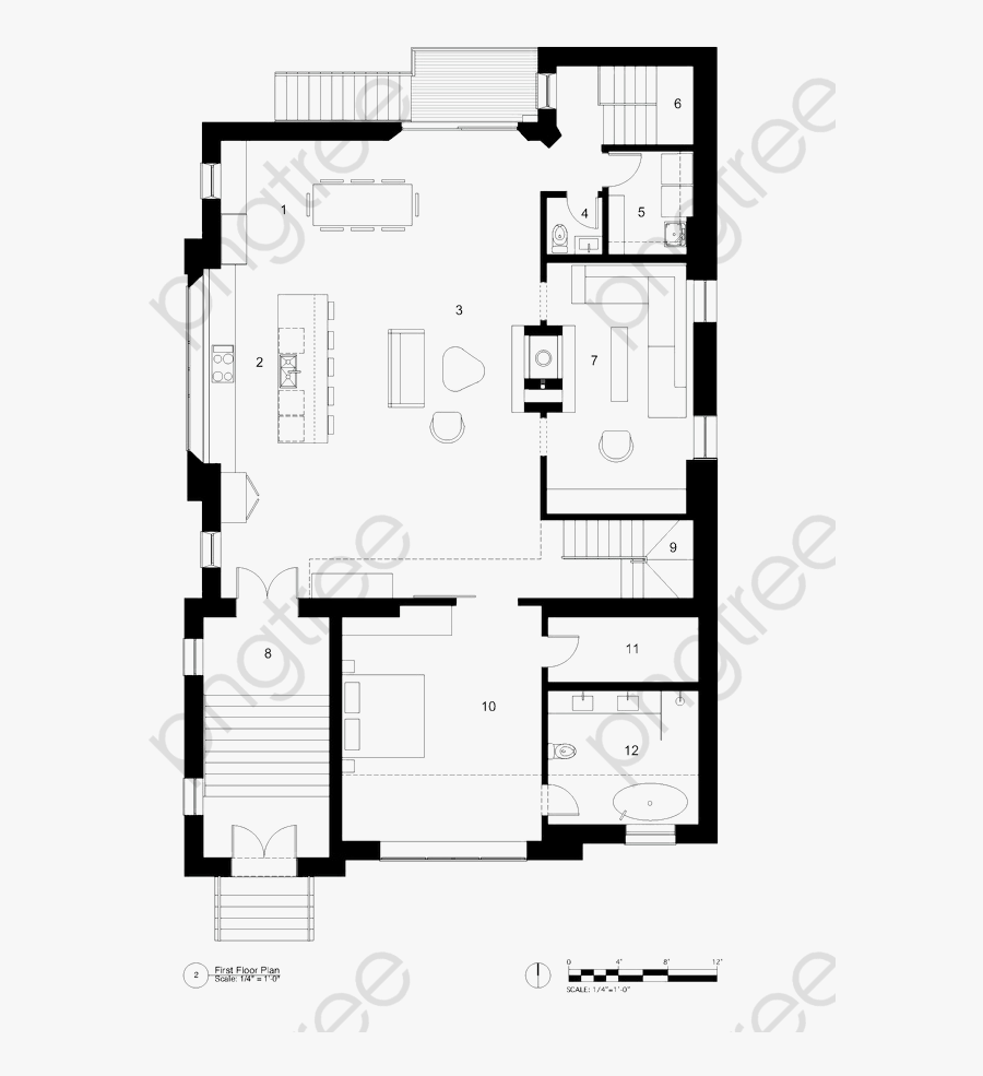 Big House Design Floor Plan - Collins