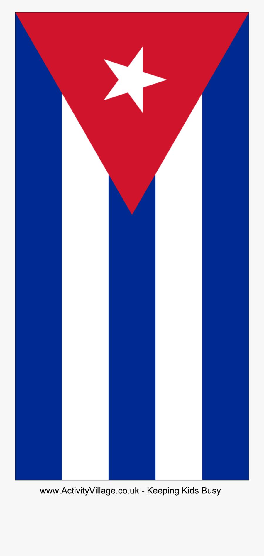 Flag Of Cuba, Transparent Clipart